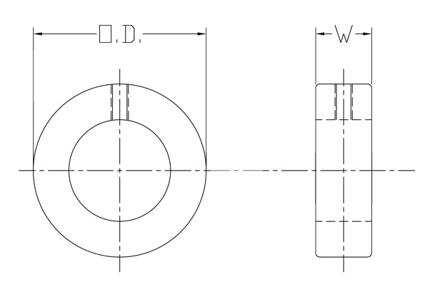 solid cast iron shaft collar diagram