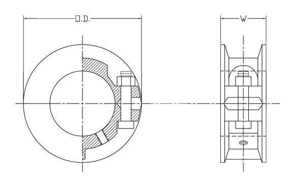 split cast iron shaft collar diagram